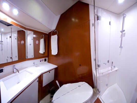 bathroom of a yacht