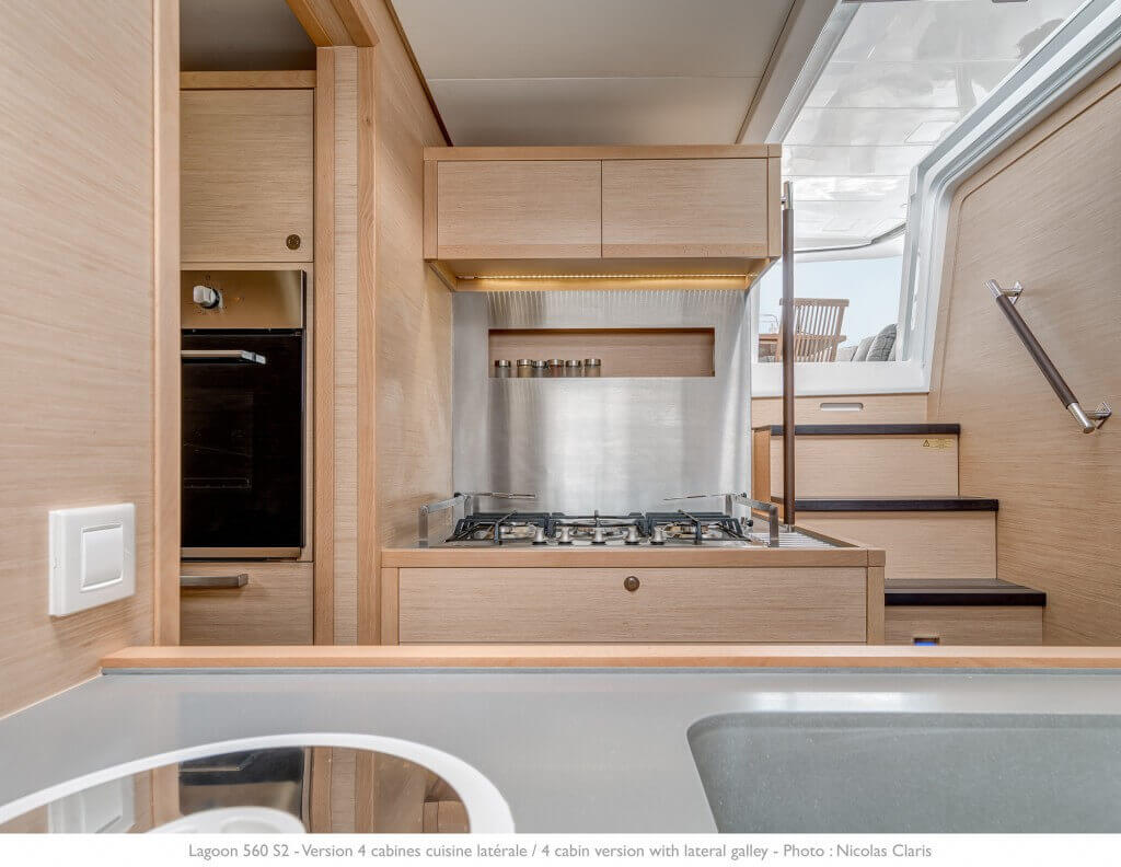 luxury yacht underdeck