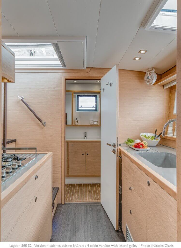 kitchen of a yacht