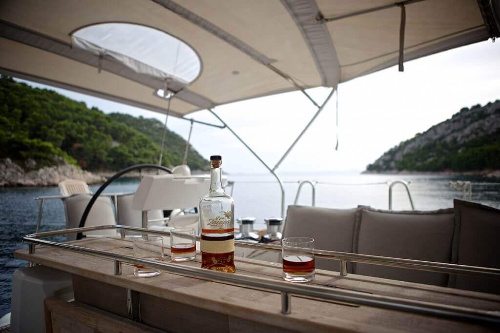 alcohol aboard the yacht
