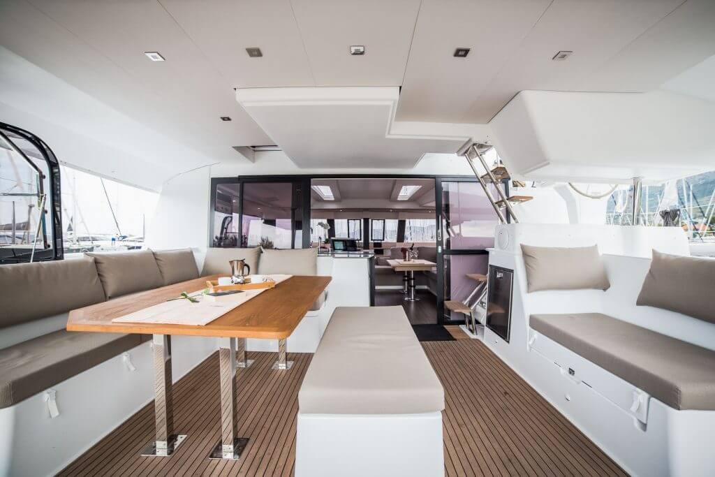living room inside a yacht