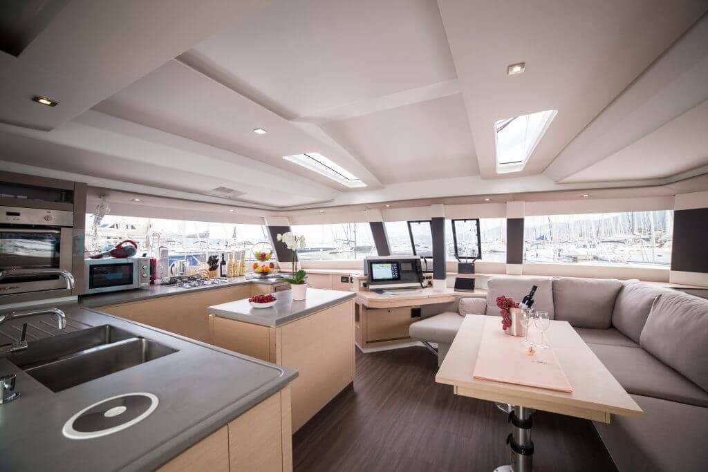luxury insides of a yacht