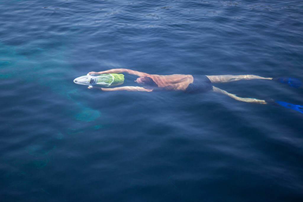 potápanie sa v mori