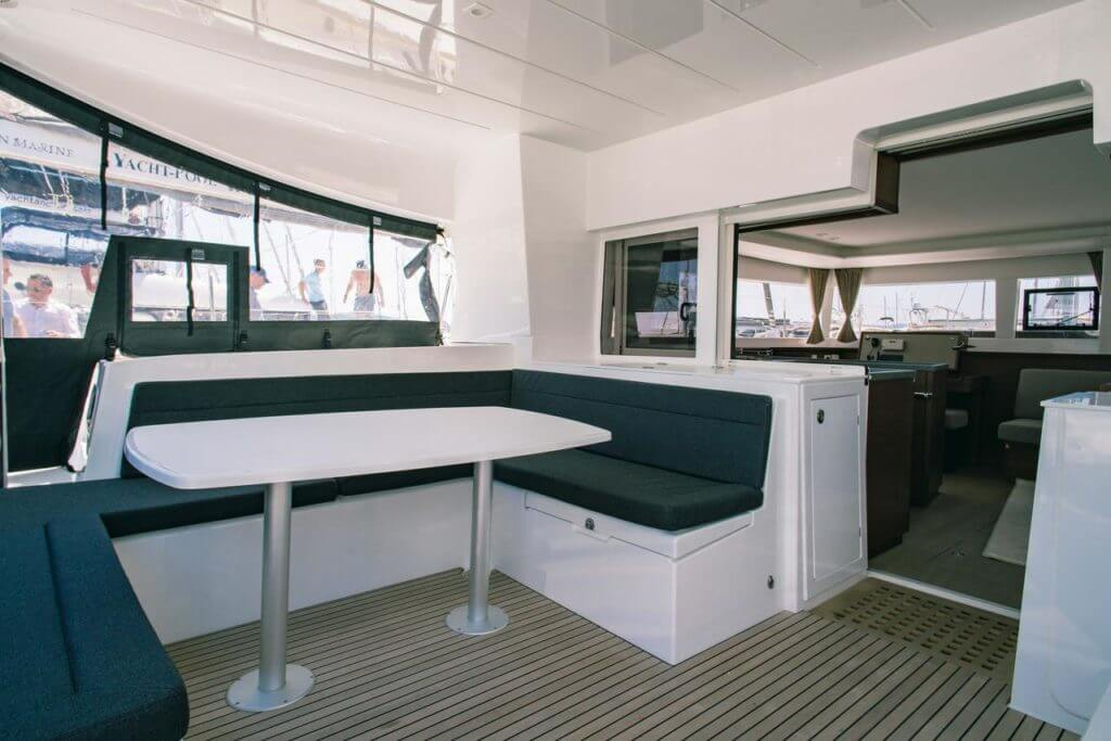 living inside a yacht