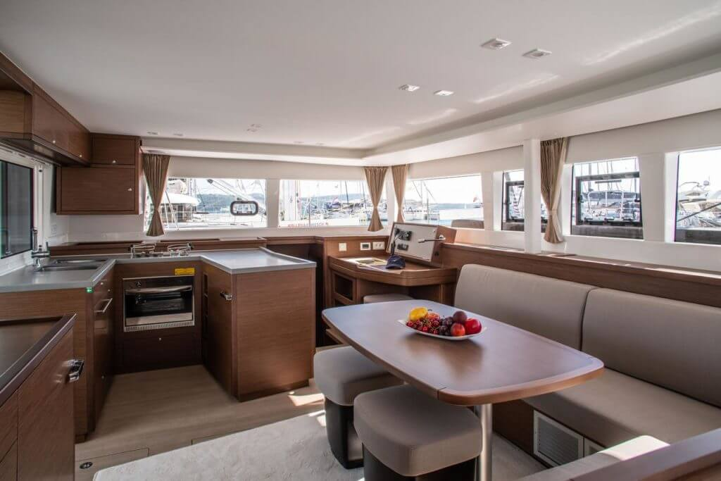 luxurious interior of a yacht