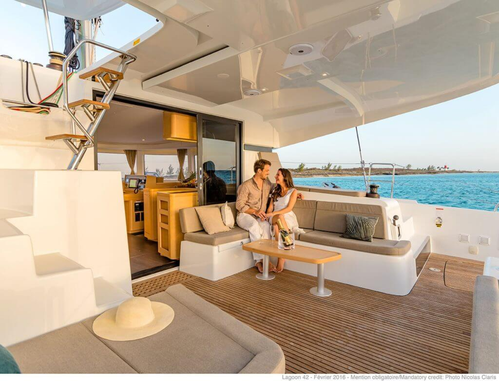 couple enjoying the yacht life