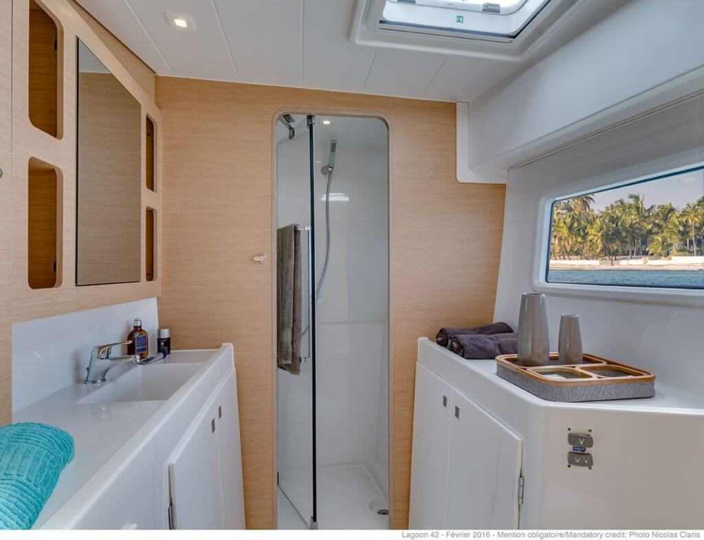 luxury yacht shower
