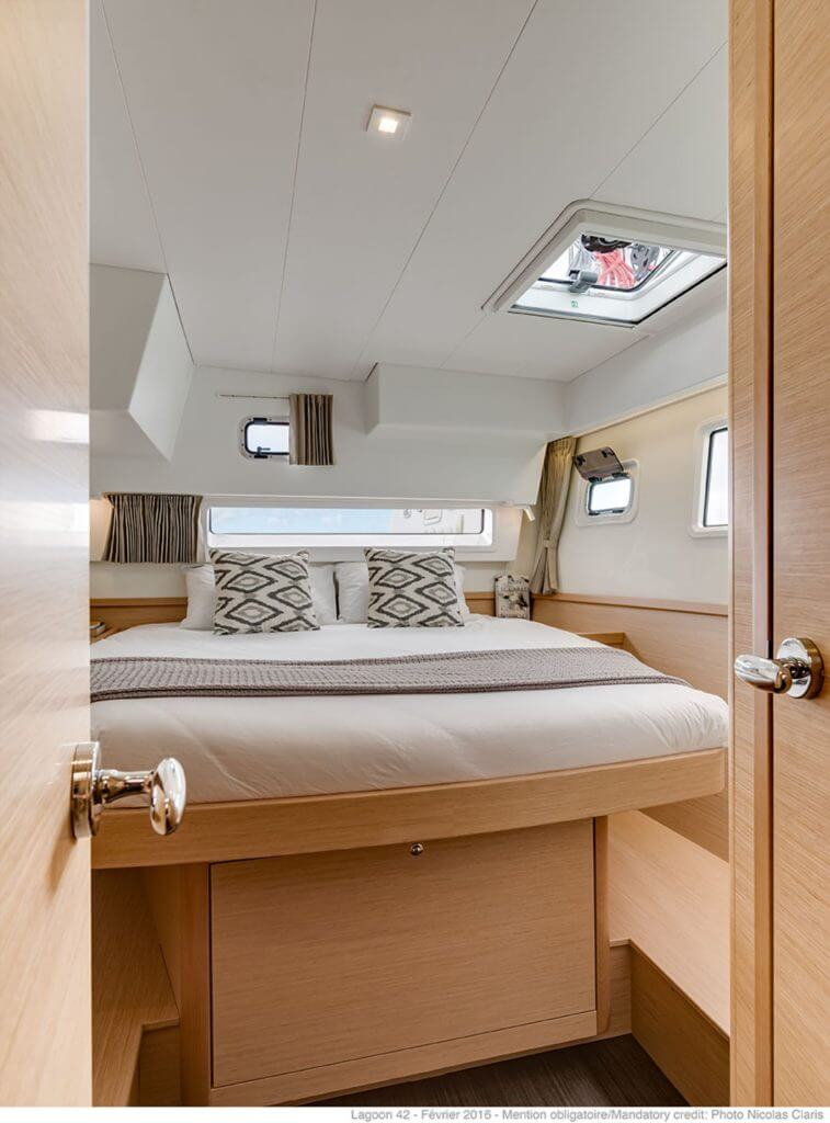 bed in a yacht