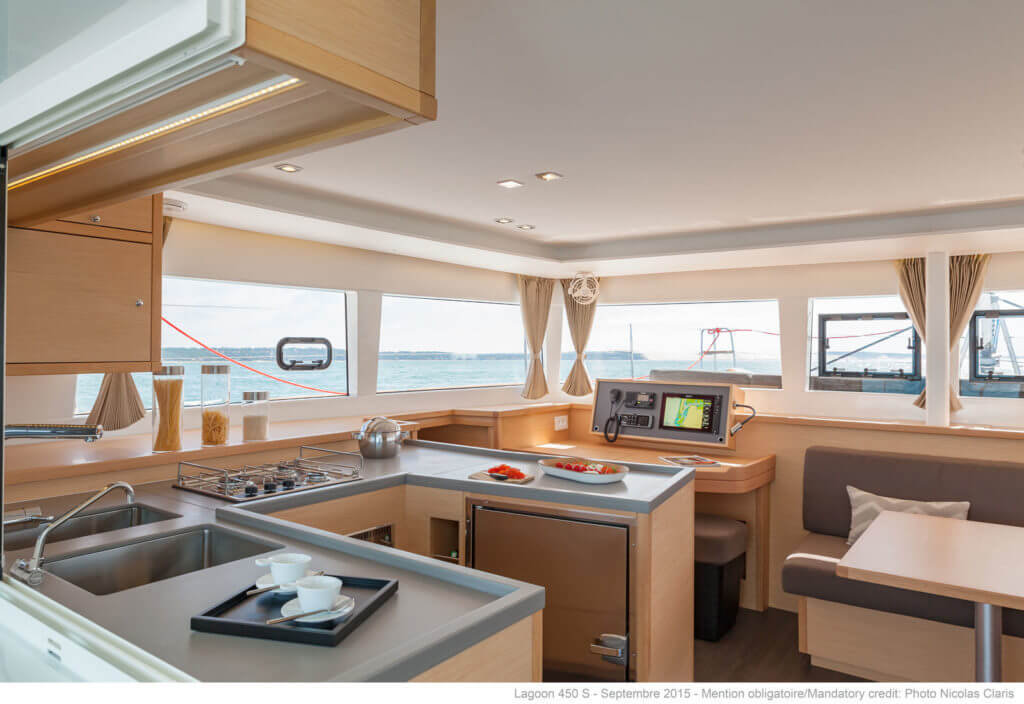 interiour of a luxury yacht