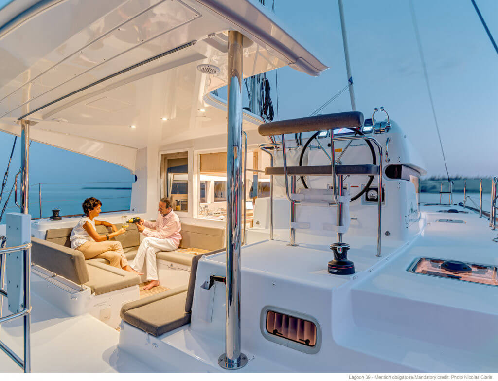 romantic evening on a yacht