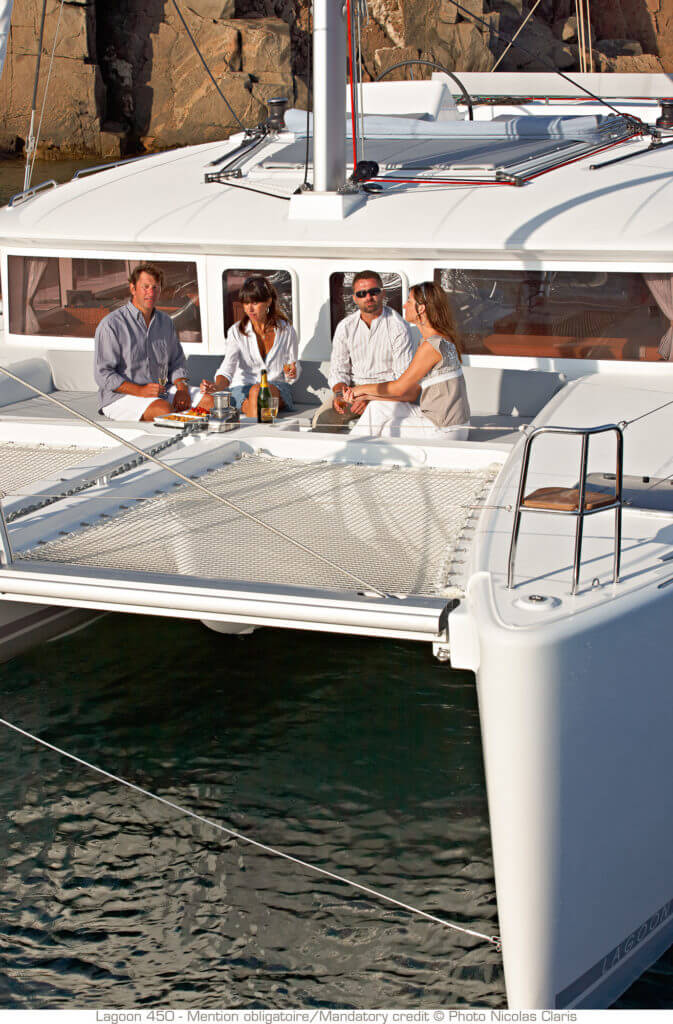 people sitting on a yacht