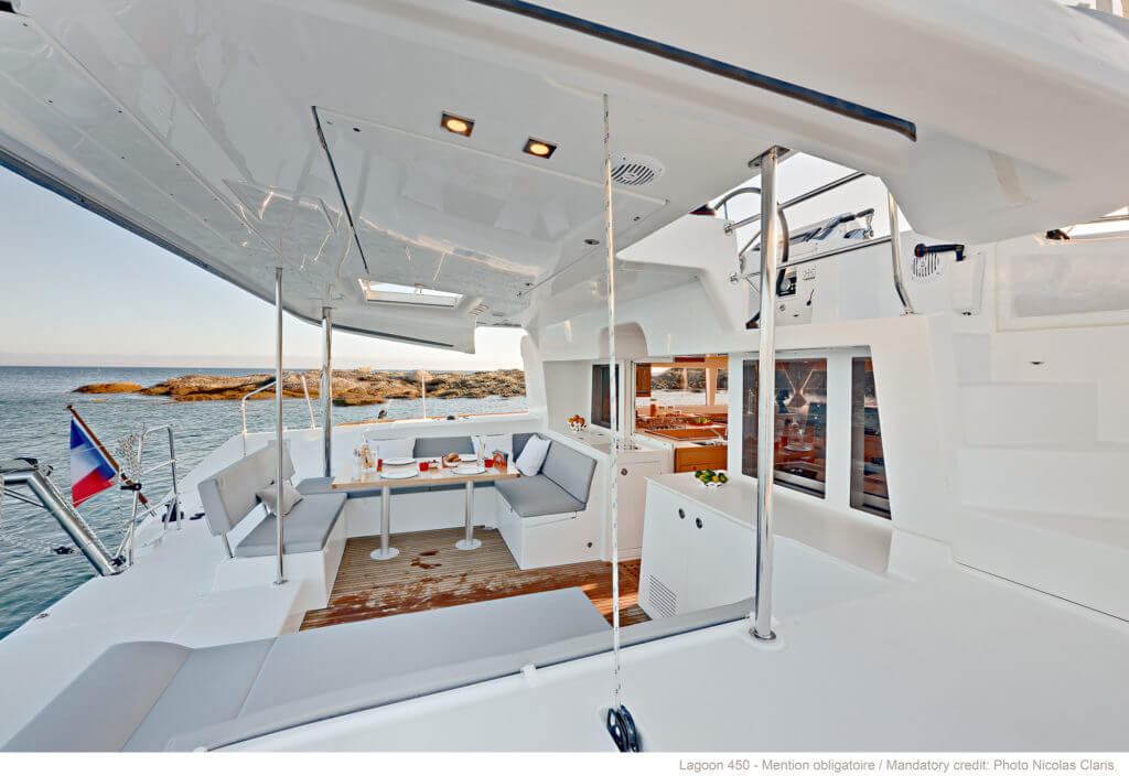 back of a luxurious yacht