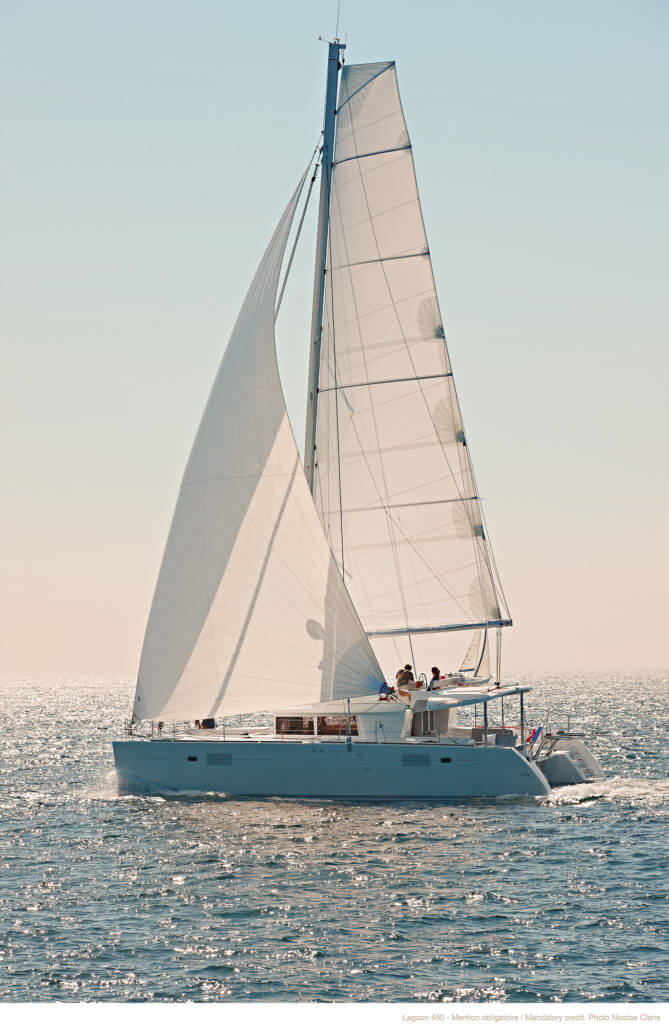 beautiful yacht sailing